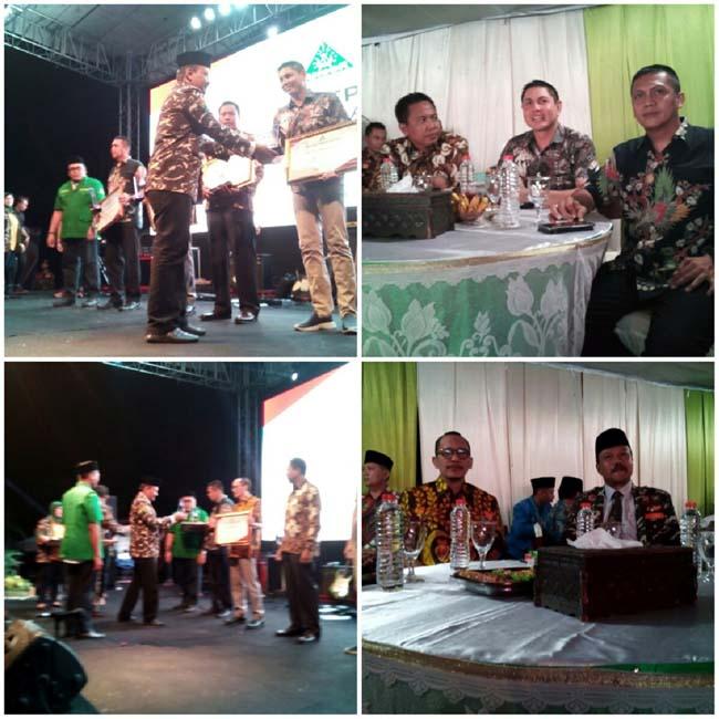 Para penerima penghargaan Anggota DPRRI komisi VIII, Dandim0820, Kapolres kapolresta Probolinggo (pix)
