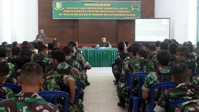 Tekan Angka Laka Lantas dan Narkoba, Dansubdenpom V3-1 Probolinggo Kumpulkan Anggota TNI dan ASN se Wilayah Hukum Kodim 0820