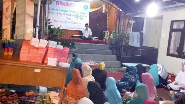 Danramil 0815/17 Bersama Forpimka Trawas Hadiri Pengajian Umum & Ruwah Desa