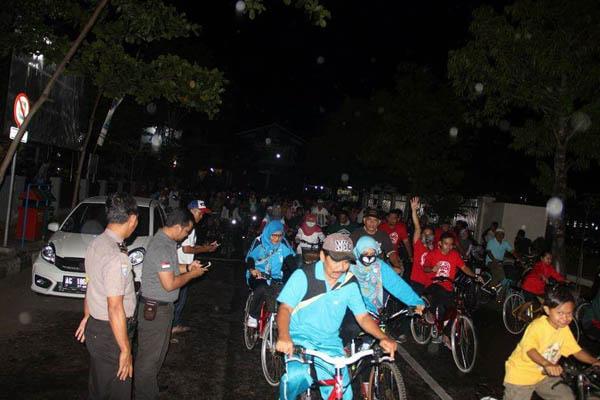 Kemeriahan event NNR, yang diikuti lebih dari ratusan pecinta sepeda