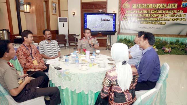 Jelang Pilkada, Kapolda Jatim Gandeng Praktisi IT dan Asosiasi Siber Indonesia