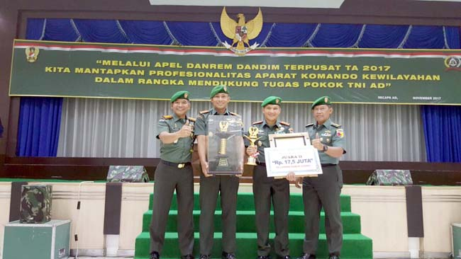 Kodim Jember Juara Lomba Binter Tingkat Kodim Utama XX Tahun 2017