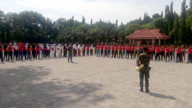 Kodim Tanamkan Kedisiplinan ke OSIS SLTA se Kota Probolinggo