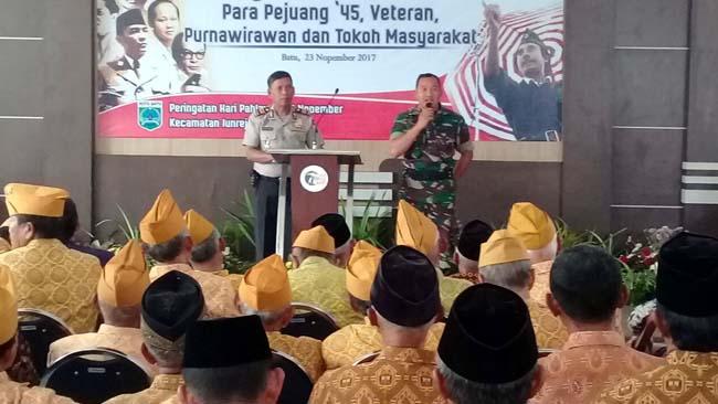 Koramil Junrejo Eratkan Silaturahmi Bersama Pejuang Kemerdekaan
