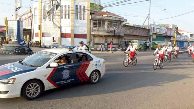 180 Personil Polres Situbondo Amankan Jalur Tur Sepeda Sehat Keliling Jawa II