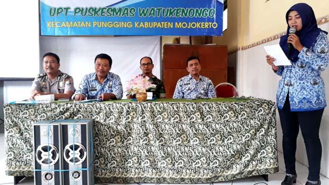 Babinsa Koramil 081511 Pungging Ikut Mini Lokakarya Lintas Sektor UPT Puskesmas Watukenongo