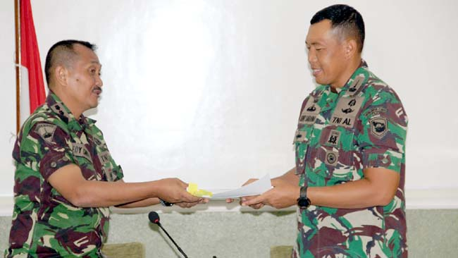 Danmenbanpur-1 Marinir Ganti Tampuk Pimpinan