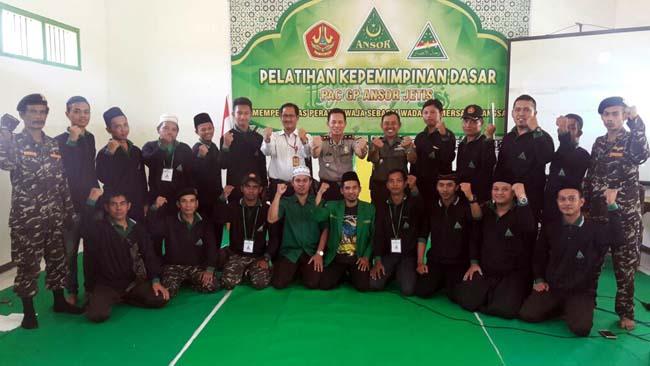 Danramil 081507 Jetis Berikan Materi Wasbang Pada Pelatihan Kepemimpinan GP Ansor