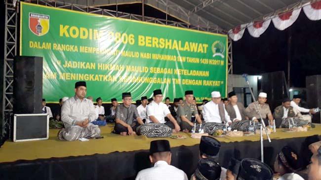 Maulid Nabi 1439 H, TNI di Trenggalek Gelar Sholawat dan Pengajian Bersama