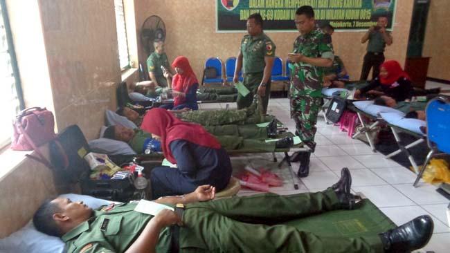 Sambut HJK Dan HUT Kodam VBrawijaya, Kodim 0815 Mojokerto Gelar Donor Darah