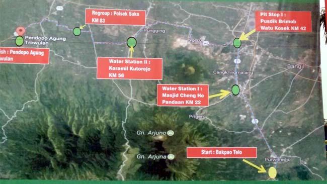 Dandim 0818 Cek Lokasi Road Bike 8 Penjuru Mata Angin