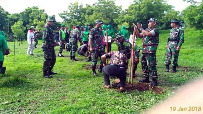 Kodim 0823 Situbondo Gelar Apel Penghijauan dan Penanaman Pohon