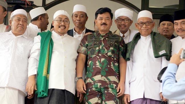 Kunker Panglima TNI di Malang, Temui 70 Ulama se-Jatim di Ponpes An-Nur 1 Bululawang