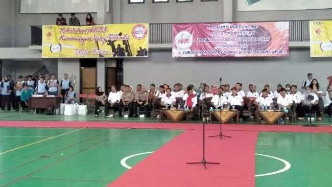 Pembukaan Kejurkab Bola Volly Antar SMA-SMK-MA Dihadiri Pabungdim 0815 Mojokerto
