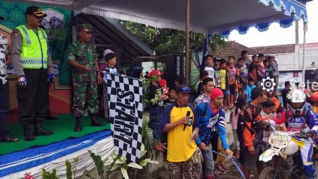 Danramil 081826 Singosari Ikut Kibarkan Bendera Start Adventure Trail dan Off Road