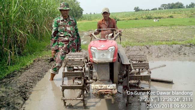 Koramil 08Dawarblandong Operasionalkan Brigade Alsintan