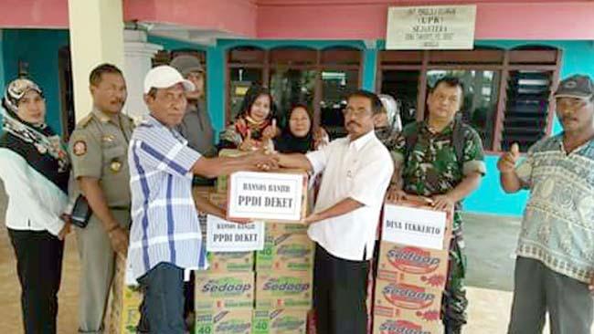 PPDI Kecamatan Deket Gelar Bakti Sosial Untuk Korban Banjir