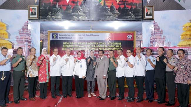 Dandim 0818 Kab Malang-Batu Hadiri Deklarasi Wilayah Bebas Korupsi