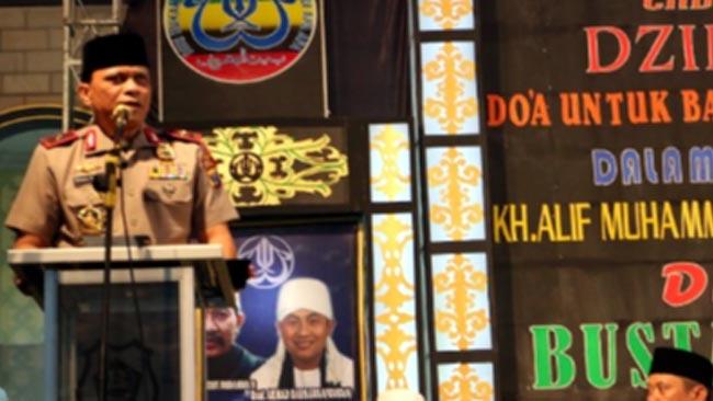 Hadiri Haul ke-2 KH Arif Muhammad, Wakapolda Jatim Pesankan Kamtibmas