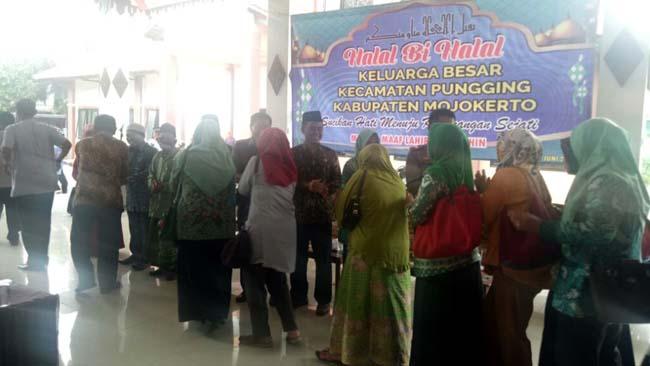Danramil Pungging Bersama Forpimka dan Tokoh Gelar Halal Bihalal