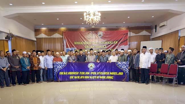 Deklarasi Kapolresta dan Takmir Masjid Kota Malang, Larang Masjid Jadi Ajang Kampanye
