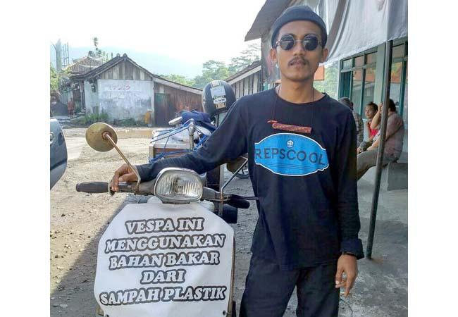 Republik Scooter Lumajang Olah Sampah Jadi Bahan Bakar Kendaraan