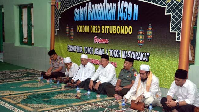 Acara Safari Ramadhan 1439 H. di Aula Makodim 0823/Situbondo.(im)