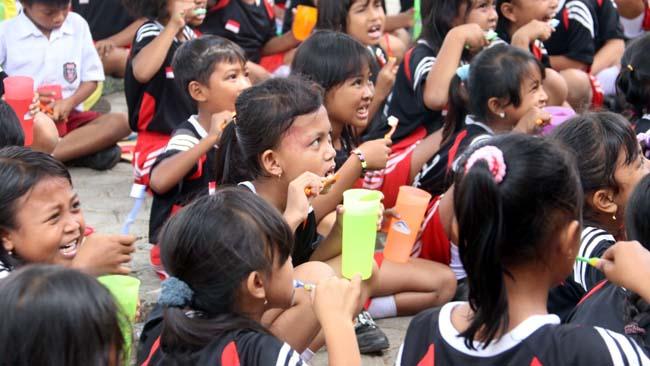 BSI Kampanyekan Gerakan Hidup Sehat ke Anak SD