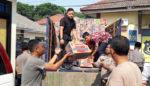 Delapan Truk Sembako Polresta Sidoarjo Dikirim ke Palu dan Donggala
