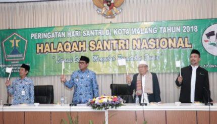Peringatan Hari Santri Nasional di Kota Malang