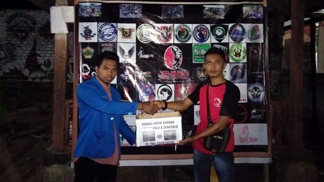 Samurai BC Bondowoso Gandeng PMII, Serahkan Donasi Korban Bencana Sulawesi Tengah