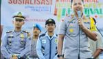 Satlantas Polres Kediri Gelar Sosialisasi Millennial Road Safety Festival