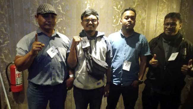 Para wartawan pemenang PWI Idol. (rhd)