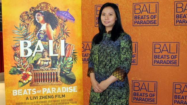 Livi Zheng tayangkan perdana film Bali: Beats of Paradise di Matos. (rhd)