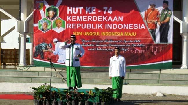 Ponpes Walisongo Mimbaan Situbondo Gelar Upacara Peringati HUT Kemerdekaan RI Ke-74